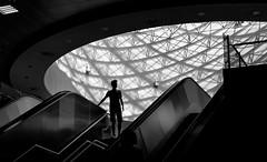 Gazi Metro in Athens (Stephen L D'Agostino) Tags: blackandwhite metro athens gazi
