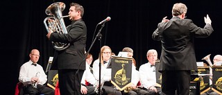David Childs with Cranbrook Town Band