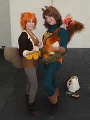Squirrel Girls! (rgaines) Tags: phoenix drag costume cosplay crossplay squirrelgirl awesomecon phoenixforce unbeatablesquirrelgirl awesomecon2016