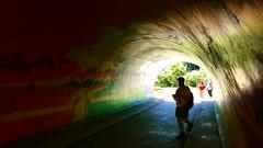 Light at the End of the Tunnel (Georgie_grrl) Tags: toronto ontario graffiti michael friend mural photographers tunnel social colourful outing rainbowbridge torontophotowalks topwaged