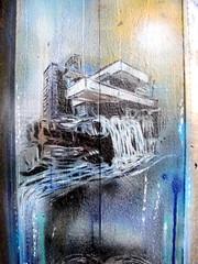Frank Lloyd Wright stencil, Paul Don Smith, Southbank (duncan) Tags: graffiti stencil southbank franklloydwright fallingwater