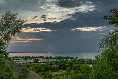 Holes In The Sky (MEL2YYZ) Tags: toronto landscape sony lookout sunrise scarboroughbluffs alpha lake views scarborough ontario canada a6000 lakeontario yyz sel28f20