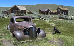 Abandoned Car (Jolita Kieviien) Tags: california park old usa abandoned car america town state ghost rusty historic bodie