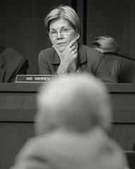Senator Warren in Committee (fotographis) Tags: blackandwhite blackwhite dc washington nikon government warren democrat d500 70200mm ussenate yellen nikond500 senatorwarren