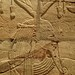 Closeup of relief on the Shrine of the 25th dynasty pharaoh and Kushite King Taharqa  Egypt 7th century BCE