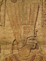 Closeup of relief on the Shrine of the 25th dynasty pharaoh and Kushite King Taharqa  Egypt 7th century BCE (5) (mharrsch) Tags: architecture temple worship shrine god unitedkingdom religion egypt oxford 7thcenturybce myth deity basrelief ashmoleanmuseum taharqa lateperiod 25thdynasty mharrsch