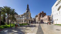 ( 360 interactiva ) Ayuntamiento de Cartagena (II) (Juan Ig. Llana) Tags: panorama puerto arquitectura 360 palmeras explore murcia paseo cartagena epic spherical ayuntamiento panormica esfrica gigapan epicpro
