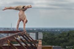 No fear at all (Mato Barbier) Tags: handstand bratisava slovakia atriaky mlynska dolina parkour freerun muscle man longhair
