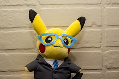 Day Sixty-Six (MBPruitt) Tags: pikachu stuffed animal toy photography still life flash adorable business monthly pokemon