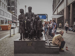 Ros at the Holocaust memorial. Bahnhof Friedrichstrae, June 2016. (joelschalit) Tags: berlin germany children holocaust thirdreich nazis trains fascism racism nationalism shoah deathcamp populism afd concentrationcamps deportees rechtspopulismus berlinfriedrichstrase bahnhoffriedrichstrase alternativefrdeutschland