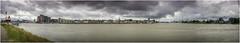 Dordrecht - Panoramic view seen from Papendrecht (Luc V. de Zeeuw) Tags: clouds dordrecht dordsekil merwede noord panorama papendrecht river sky skyline zuidholland netherlands