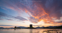 Sky Inferno (LoneWolfA7ii) Tags: blue light orange castle nature water yellow clouds wow scotland sony stalker a7ii
