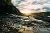 Twin Suns (haoguoju) Tags: sydney nsw newsouthwales landscape seascape australia laperouse distagon cloud sky outdoor sea ocean sunrise blue a7m2 a7 sony sonya7markii sonyilce7m2 fe35mmf14za fe 35mm f14 za zeiss carlzeiss winter morning distagon3514za shore coast seaside rock stone angler mist starburst bay botanybay botany