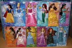 2016 Disney Princess Classic 12'' Dolls - US Disney Store Purchase - Boxed - Stacked - Front View (drj1828) Tags: ariel us doll jasmine release merida aurora belle cinderella tiana boxed snowwhite rapunzel purchase elsa pocahontas disneystore 12inch mulan 2016 classicprincessdollcollection
