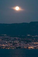 D10969E7 - Full Moon Over The Italian Coast (Bob f1.4) Tags: city light sky italy moon water night photography lights full foreground
