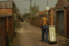 Garden jobs (Michael E Flack) Tags: garden spring braces bin recycle compost recycling wolverton