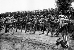 I sat and watched them march by (vallgall) Tags: blackandwhite creativecommons worldwarone timetravel wah somme wikepediacommons 366the2016edition australian6thbrigade