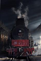 I_B_IMG_7409 (florian_grupp) Tags: china railroad train landscape asia mine desert muslim railway steam xinjiang mikado locomotive ore js steamlocomotive 282 opencastmine yamansu