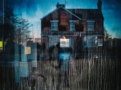 DSCF5380 (Neil Johansson LRPS) Tags: uk blue light urban color colour window wales architecture digital reflections dark photography photo fuji cymru photograph fujifilm x20 gwynedd pwllheli urbanphotography northwales fujifilmx20 urbanwales