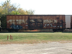 10-08-10 (21) (This Guy...) Tags: road railroad car train graffiti box graf rail rr traincar boxcar graff 2010
