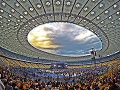 Kiev,Olympic Stadium (Alexandr Tikki) Tags: world life new original light sky people cloud holiday news building love beauty skyline architecture modern clouds wow fun happy lights crazy amazing fantastic perfect europe view outdoor good earth stadium top unique magic awesome great dream july ukraine best elena round hero dreams concept moment inspire incredible kiev impressive happines rchp gopro upark goprohero4 leveltravel