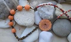 (katerina66) Tags: necklace handmade jewellery polymerclay semipreciousbeads κολιέ κοσμήματα χειροποίητο πολυμερικόσάργιλοσ ethniccord