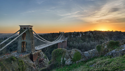 Clifton Suspension Bridge Sunset