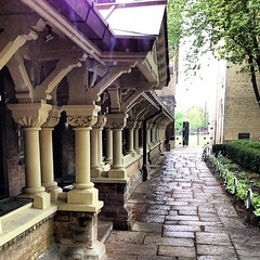 Cloistered Path (quistian) Tags: toronto square universityoftoronto squareformat cloister quadrangle universitycollege iphoneography instagramapp uploaded:by=instagram