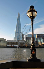 The Shard, London, England (andy evans photos) Tags: england colour building london glass architecture skyscraper unitedkingdom bluesky lamppost photograph riverthames southwark tallestbuilding pyramidal shardofglass portraitphoto theshard londonbridgetower andyevansphotos