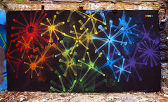 'X-Rainbow 6' (SHOK-1) Tags: flowers england urban streetart black london art public sparkles mystery painting skeleton graffiti rainbow mural symbol fireworks outsider secret surreal wallart x urbanart xray anatomy technical bones translucent bone spraypaint surrealist organic concept transparent conceptual aerosol technique shok symbolic spraycan shok1 symbolist organicstyle cancontrol shokone organicgraffiti organicletters