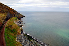 cliff walk railway line (Ann Mari) Tags: ireland sea cliff railway cliffwalkbray