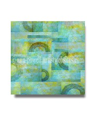 Blue Collage square copyright Ann Powell (annpowellart) Tags: abstract modern abstractart contemporary modernart fineart wallart fi abstracts annpowell annpowellart