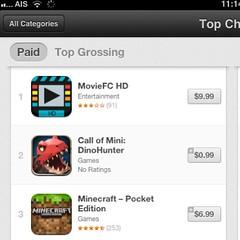 ใครบอกคนไทยไม่มีเงินซื้อ App ก๊าน ขนาด 9.99$ ยังขึ้นอันดับ 1 ได้ ที่คนไทยอยากได้มันคือหนังเถื่อนโหลดฟรีตะหาก เฮ้อ คนที่โหลดทำใจได้เลย App ตัวนี้ใกล้โดนแบนแล้วนะครับ ใครซื้อแล้วก็ซวยไป