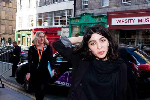 Samira Makhmalbaf arriving on the red carpet for Breathe In