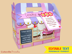 PDF Printable Cake Shop Gift Box with Editable Text Features - INSTANT DOWNLOAD (Cutezville Printables) Tags: door flowers roof cute art sign cake shop digital paper print fun cupcakes diy printer text craft file cupcake download icing pdf etsy chalkboard ideas blackboard template frosting edit wrappers personalize cardstock printable cutesville changeable editable personalise cutezville