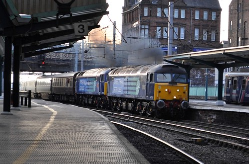 A powerful sight of The Northern Belle, arriving into Carlisle.