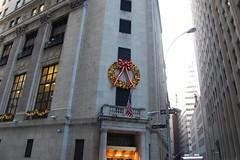 New York Stock Exchange (koborin) Tags: christmas nyc newyorkcity travel ny newyork manhattan financialdistrict wallstreet lowermanhattan newyorkstockexchange christmaswreath