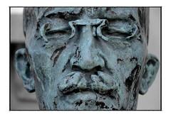 face statue by Carl Milles (swe_actor) Tags: face statue bronze sweden stockholm details cara statues estatua millesgrden staty facestatue