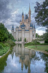 Cinderella's Castle (shutterBRI) Tags: autumn reflection castle water reflections landscape orlando florida sony disney disneyworld alpha wdw waltdisneyworld magickingdom waltdisney cinderellascastle nex shutterbri 2013 brianutesch nex7