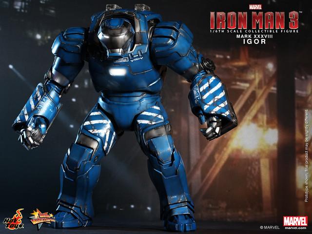 """Hot Toys – MMS215 – 鋼鐵人3:鋼鐵人 馬克38 -負重裝甲""""伊格爾"""" (Igor Mark XXXVIII)"""
