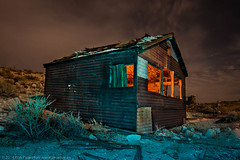 A Hot Night in Tonopah (dejavue.us) Tags: ranch longexposure nightphotography lightpainting abandoned clouds nikon nevada nikkor tonopah d800 1835mmf3545d vle
