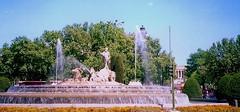 Fountain of Neptune (Fuente de Neptuno), Madrid, Spain (ukoboe) Tags: fountain colors spain fuente prado neptuno neptune madridstreets madridfountains