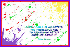 Every Child Is an Artist (lclower19) Tags: art colors photoshop quote elements splatters poetography promptaddicts