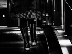 rain boots  -  Osaka,Japan (tai_nkm) Tags: light bw japan lumix osaka gh3