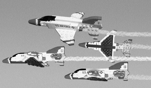 Thunderbirds F-4 B&W