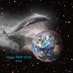 ~~~ (Mara ~earth light~) Tags: world collage photoshop sylvester earth joy creativecommons delphin ourtime callingallangels mara~earthlight~ healinglightofthespirit happynewyear2014