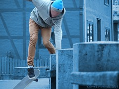 Skater in Ziegenhain (Oliver Deisenroth) Tags: street sports sport skating hobby skateboard olympusstylus1