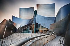 Walt Disney Concert Hall, Los Angeles (Wind Walk) Tags: california city sunset architecture frank hall los concert long exposure angeles gehry disney su curve walt chen