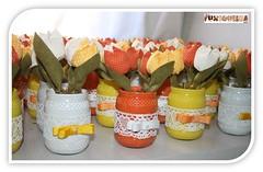 Tulipas (mfuxiqueira) Tags: flores tulipas fuxico casamento festa decoração tulipa vasinho