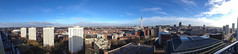 Birmingham City Panoramic (Connor Dupre) Tags: new city england apple birmingham cityscape unitedkingdom top library panoramic scape iphone